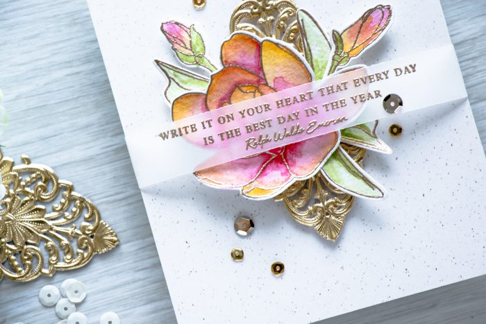 Altenew | Every day is the best day in the year card using Beautiful Quotes and Magnolias for Her stamps