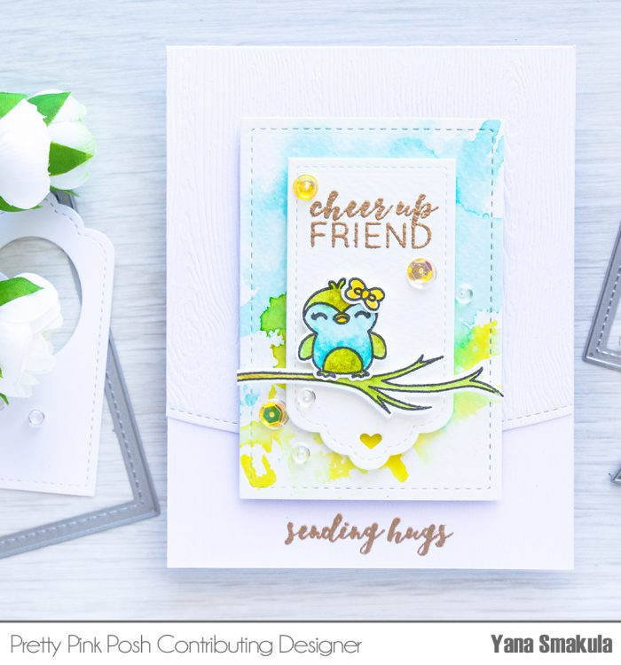 Pretty Pink Posh | May Release Blog Hop - Cheer Up Friend Watercolor Card