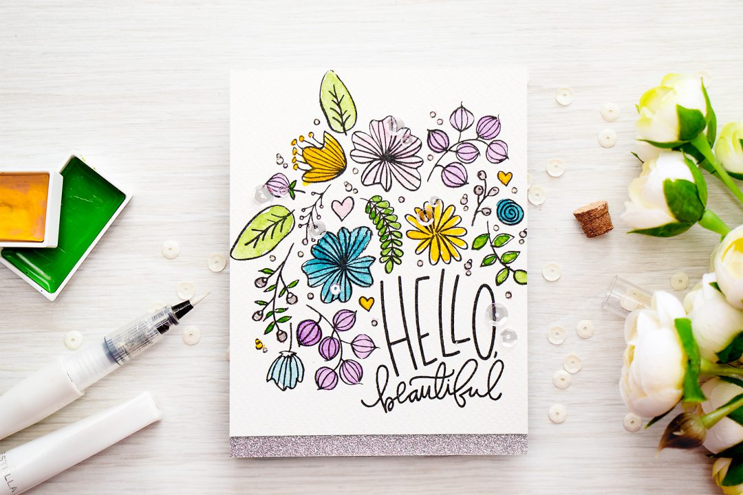 Simon Says Stamp | Hello Beautiful - Loose Watercolor