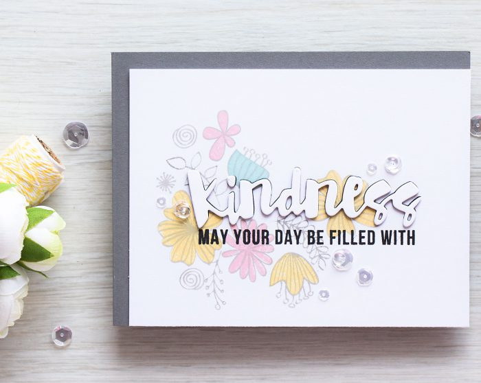 Simon Says Stamp | Subtle Background Stamping - Kindness