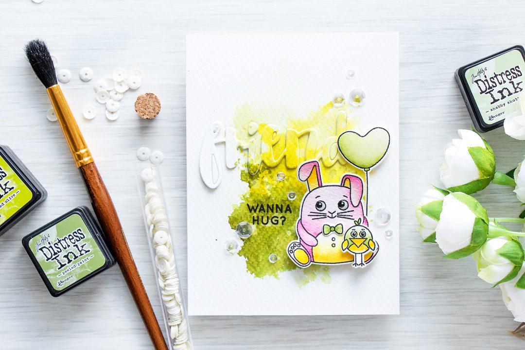 Simon Says Stamp | Watercolor Want a Hug Card