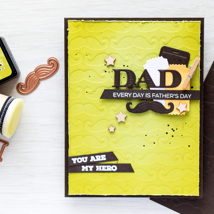 Spellbinders | DIY embossing plates. Father's Day Card. Video