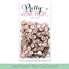 Pretty Pink Posh 6MM Metallic Rose Gold Sequins