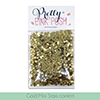 Pretty Pink Posh Gold Mini Star Confetti Sequins