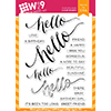 Wplus9 Hand Lettered Hello Stamps