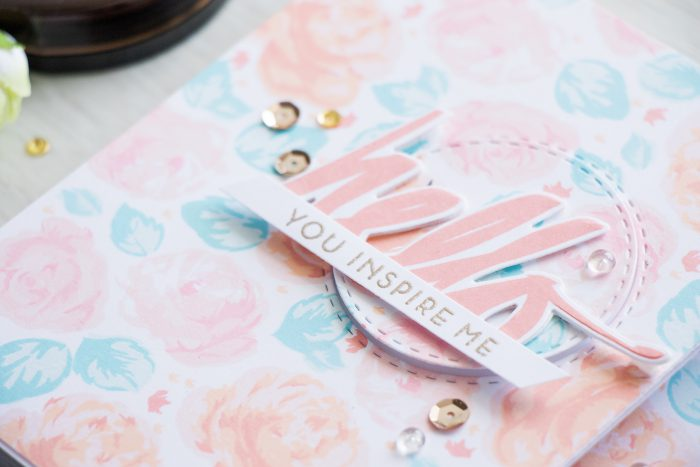 Altenew | Vintage-inspired Rose Stamped Patterns. Video + Giveaway