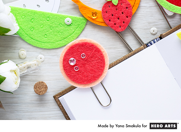Hero Arts | Jumbo Fruity Paper Clips using Fruit Salad Fancy Dies