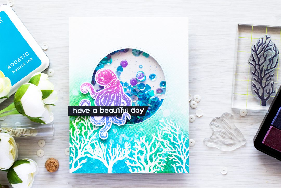 July 2016 My Monthly Have a Beautiful Day Card by Yana Smakula for Hero Arts