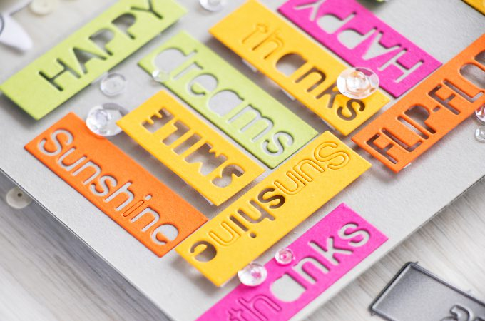 Simon Says Stamp | Colorful Word Blocks Card with Summer Greetings Dies