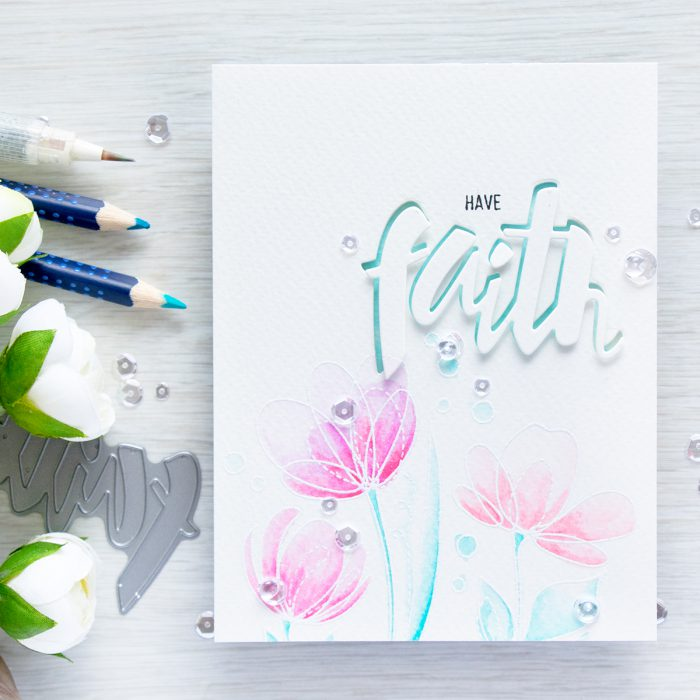 Simon Says Stamp | Watercolor cards with Watercolor pencils