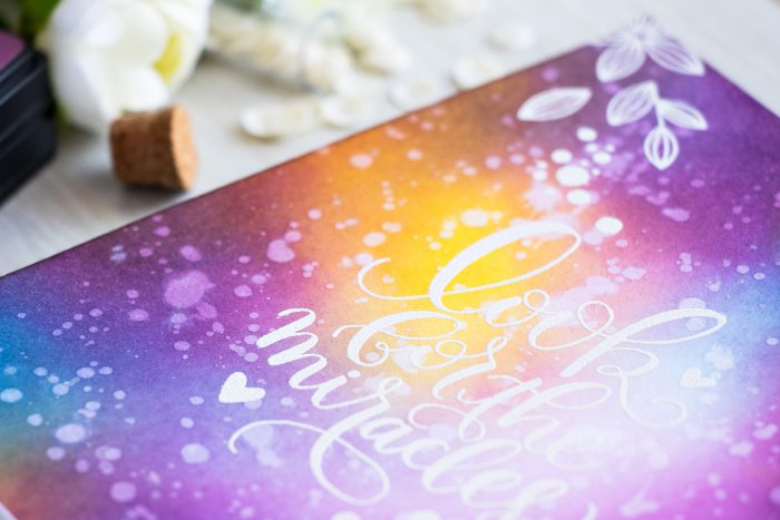 Simon Says Stamp | Galaxy Ink Blended Background - Look For The Miracles