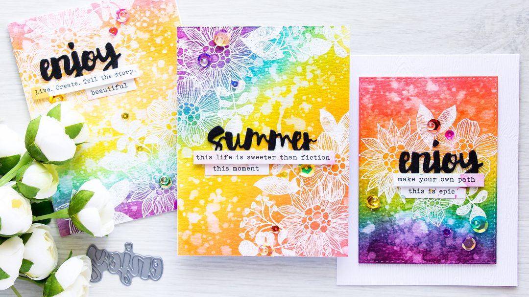 Simon Says Stamp | Distress Ink Rainbow Background & The Rainbow Card Challenge