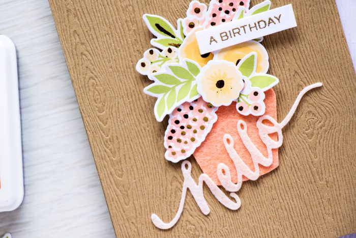 WPlus9 | Add Foiled Accents to your Color Layering Floral images with Heat Embossing. Video and Project by Yana Smakula