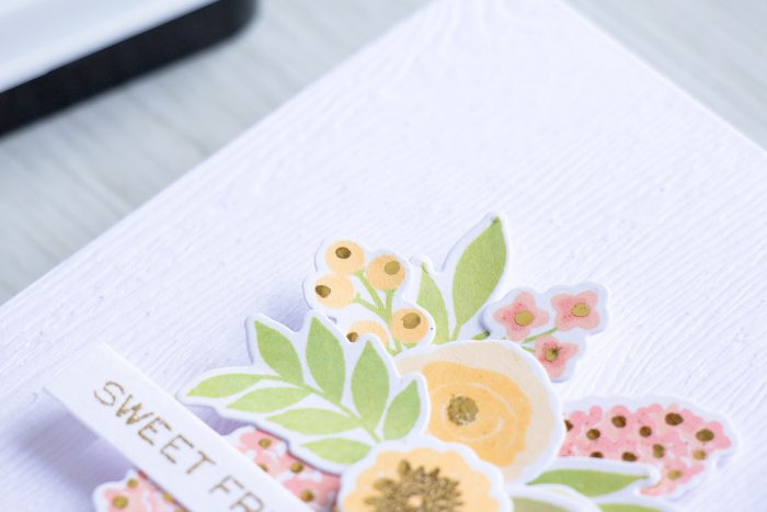 WPlus9   Add Foiled Accents to your Color Layering Floral images with Heat Embossing. Video and Project by Yana Smakula