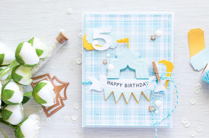 Spellbinders | Happy Birthday - Baby Boy Card. Adding colorful shadow to die cuts. Video