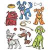 Tim Holtz Sizzix Framelits CRAZY DOGS Wafer Thin Die Set 661593