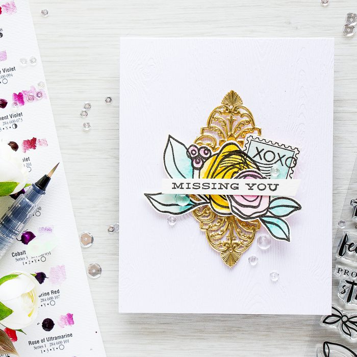 Altenew | Missing You. Bamboo Rose & Happy Mail Card by Yana Smakula