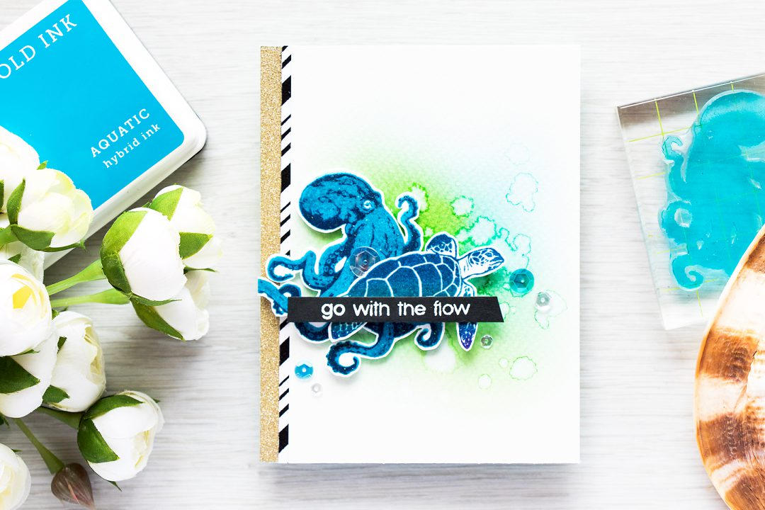 Hero Arts | Color Layering Octopus - Go With The Flow Card