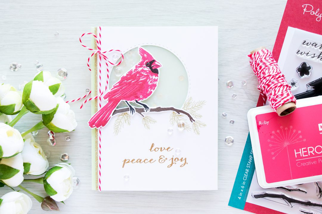 Simon Says Stamp + Hero Arts | Masterpiece Box – Color Layering Cardinal Card by Yana Smakula
