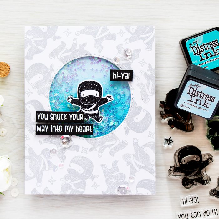 Simon Says Stamp | Tiny Ninjas You Snuck Your Way Into My Heart card | Masterpiece Box Release - Mama Elephant
