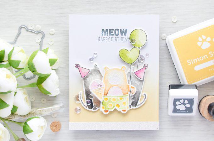 Simon Says Stamp | MEOW Birthday Card for my husband.