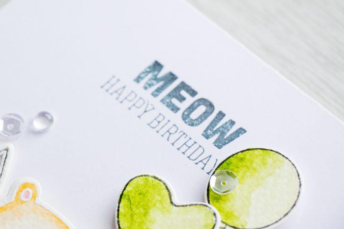 Simon Says Stamp   MEOW Birthday Card for my husband.