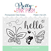 Pretty Pink Posh Blissful Butterflies Stamp Set