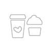 Hero Arts Coffee Cup Tags Frame Cuts DI307