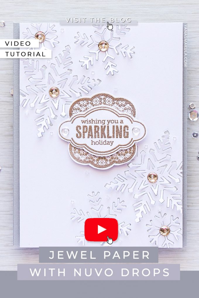 Hero Arts | 3-Dimensional Snowflakes Card with Paper Layering Snowflake dies. Project & Video tutorial by Yana Smakula featuring Hero Arts Paper Layering Snowflakes with Frames DI196 #cardmaking #diecutting #christmascard