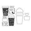 Hero Arts Coffee Cup Stamp+Die Combo SB126
