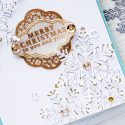 Hero Arts | 3-Dimensional Snowflakes Card with Paper Layering Snowflake dies. Project & Video tutorial by Yana Smakula