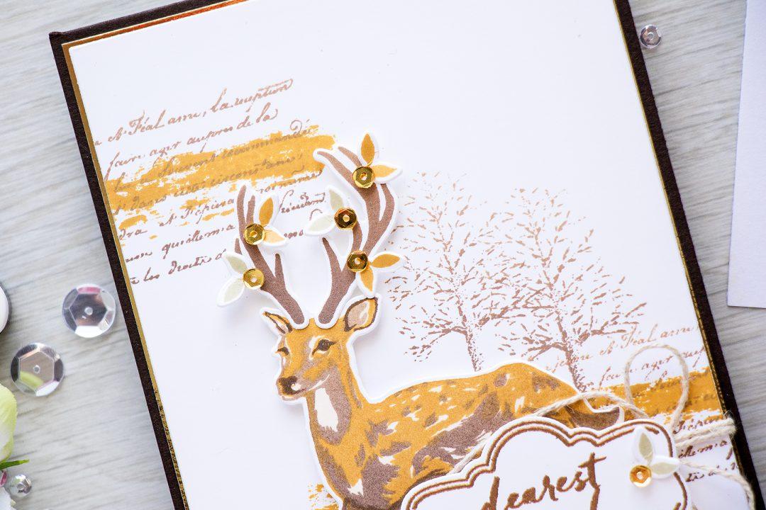 Hero Arts - Fall Dearest Friend Card using Holiday Supplies
