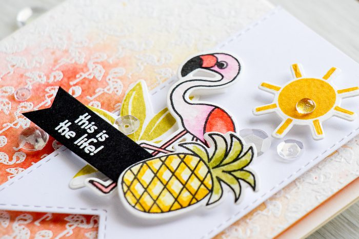 Simon Says Stamp | This is Life - Flamingo Card using Summertime Animals stamp set