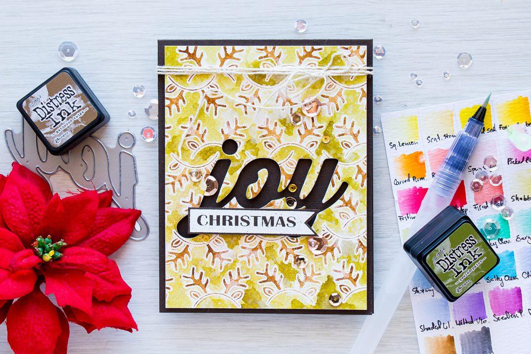 Simon Says Stamp | Christmas Joy Card by Yana Smakula