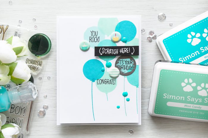 Simon Says Stamp | September 2016 Card Kit - Scratch Off Cards - Its Your Birthday by Yana Smakula
