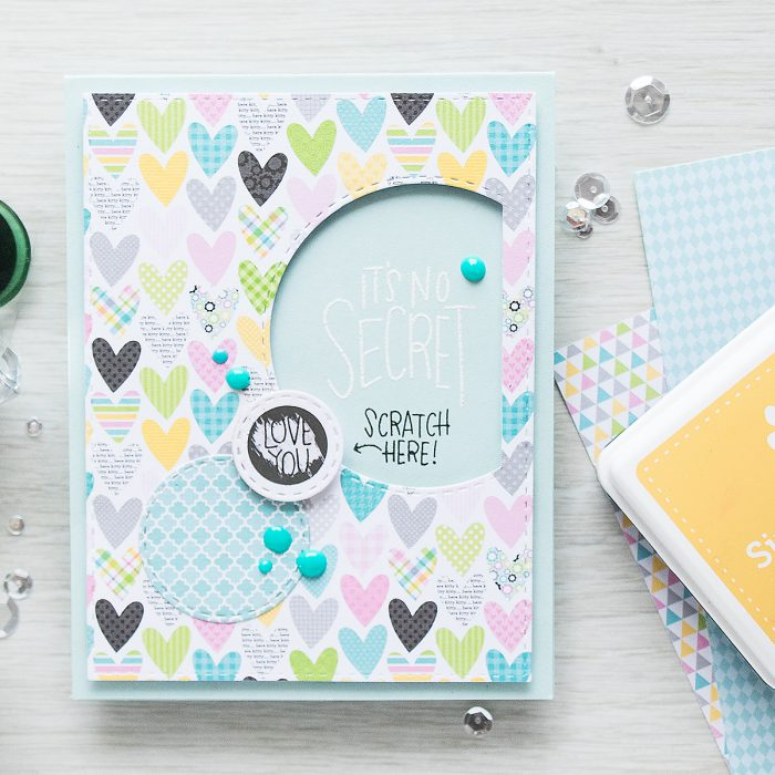 Simon Says Stamp | September 2016 Card Kit - Scratch Off Cards - Love You by Yana Smakula