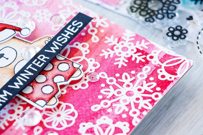 Simon Says Stamp | Warm Winter Wishes Holiday Card with Summertime Animals
