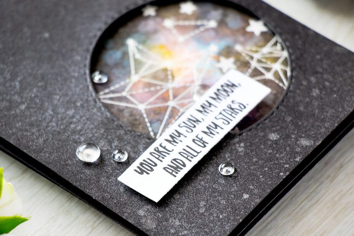 Simon Says Stamp | You Are All Of My Stars - Adding Shimmer with Mica Spray