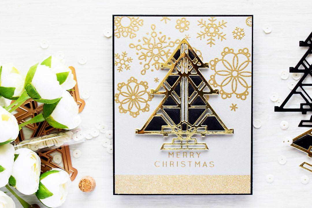 Spellbinders | Art Deco Christmas Card. Video – Yana Smakula