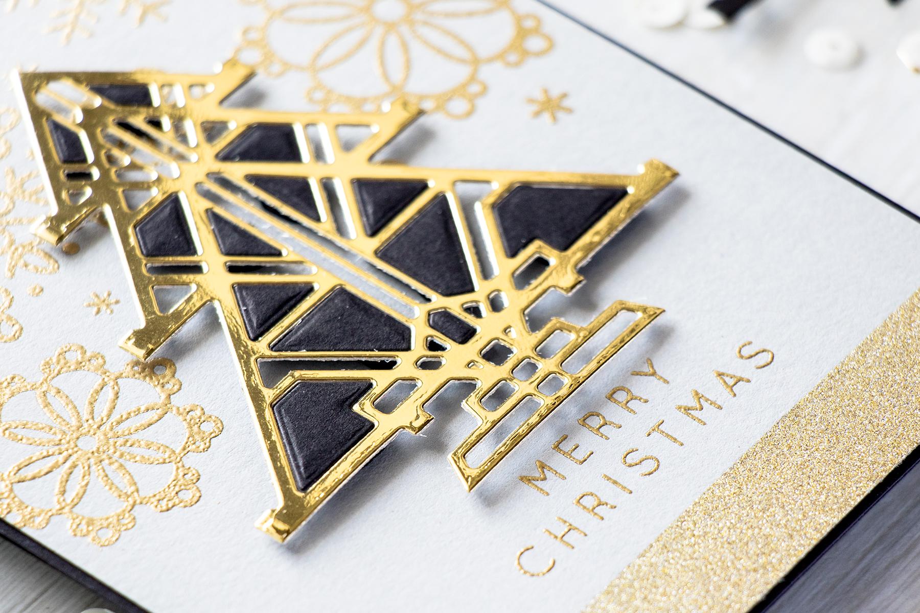 Spellbinders Art Deco Christmas Card Video Yana Smakula