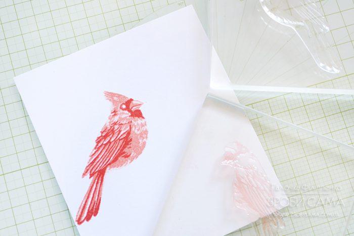 Новорічна листівка із Color Layering штампами від Hero Arts. Майстер клас
