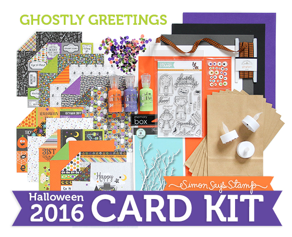 Limited Edition Simon Says Stamp Halloween Card Kit GHOSTLY GREETINGS GGHC16