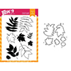 Wplus9 Autumn Leaves Set Clear Stamp and Die Combo