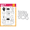 Wplus9 Friends for All Seasons Summer Clear Stamp and Die Combo