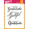 Wplus9 Grateful Greetings Clear Stamps