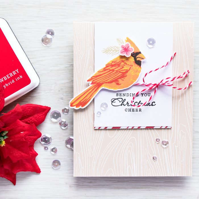 Hero Arts | Color Layering Cardinal Christmas Card by Yana Smakula