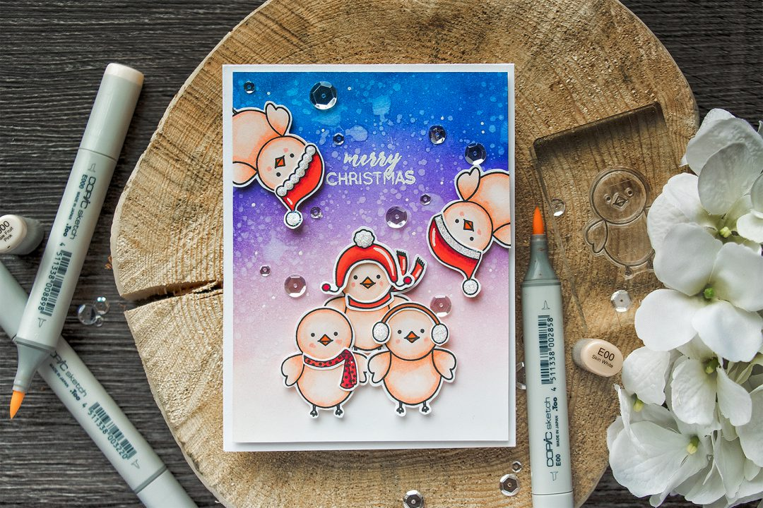 Its STAMPtember! Pretty Pink Posh Collaboration – Winter Bird Friend
