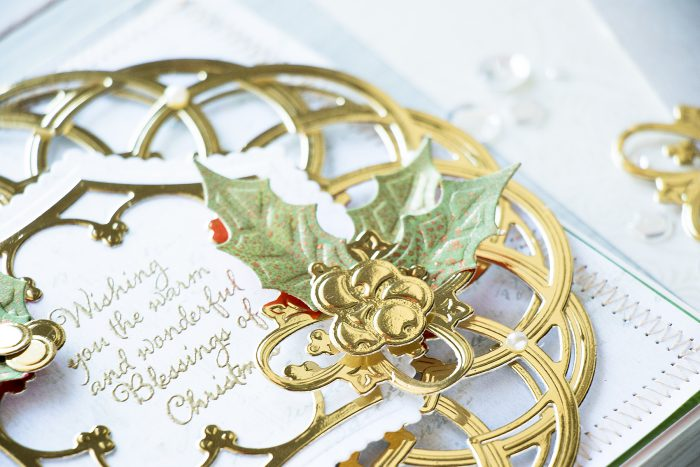 Spellbinders | Layered Holiday Card with Label 46 Decorative Accents Dies. Video