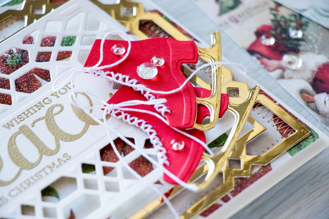 Spellbinders   Ice Skates Holiday Card. Video