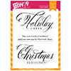 Wplus9 Christmas Greetings Clear Stamps